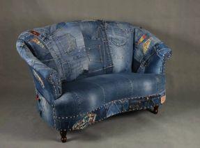 Джинсы лоскутное джинсовой диван кресло кресло - Лондон