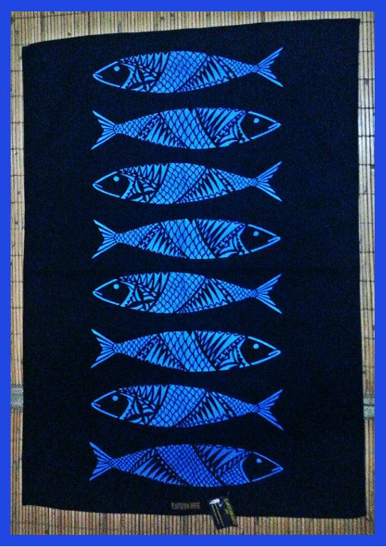 """""""Catch of the Day"""" tea-towels...... Caught yesterday.... In Store today!!!!..... Come by and catch one for yourself!.... NEW at Plantation House Samoa, $27.50 ST.""""Catch of the Day"""" tea-towels...... Caught yesterday.... In Store today!!!!..... Come by and catch one for yourself!.... NEW at Plantation House Samoa, $27.50 ST."""