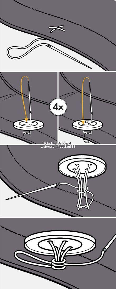 button sewing technique