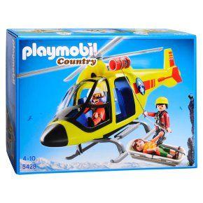 Playmobil 5428 Hélicoptère De Secours En Montagne à 17,00 € chez 3Suisses #playmobil #noel #jouet