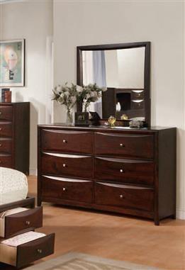 Manhattan/Zero Espresso Wood Glass Oversized Dresser And Mirror