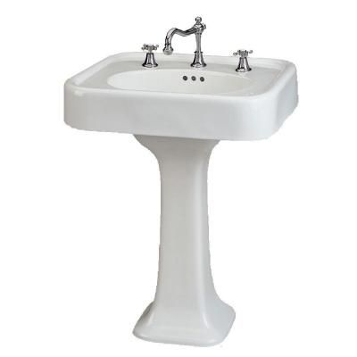 St. Thomas Creations Liberty 25 In. Pedestal Sink Basin In White. Home  Depot BathroomSink ...