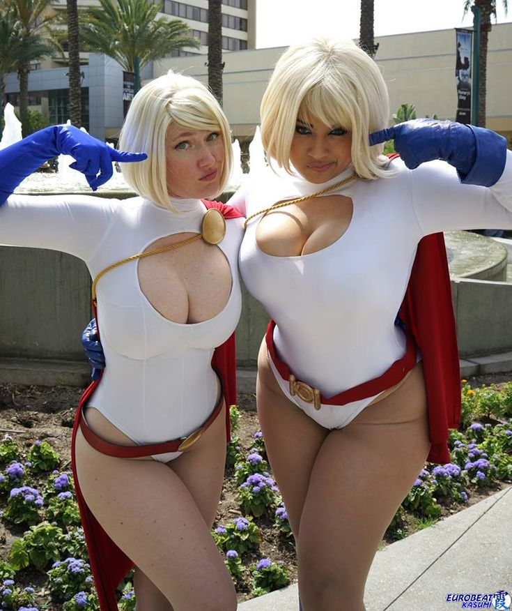 Power Girl, Cosplayers: Ivy Doomkitty Vegas PG Cosplay * Photographer: Eurobeat Kasumi Photography, who pulls it off better?