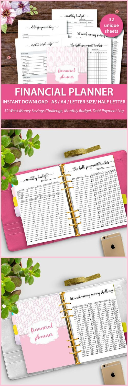 Budget Binder, Financial Planner, Budget Planner, Financial Planner Inserts, Financial Binder, Budget Printable #ad