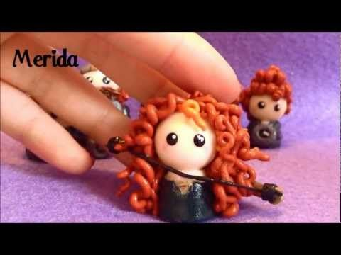 Polymer Clay Chibi Charms   Brave Family Pixar
