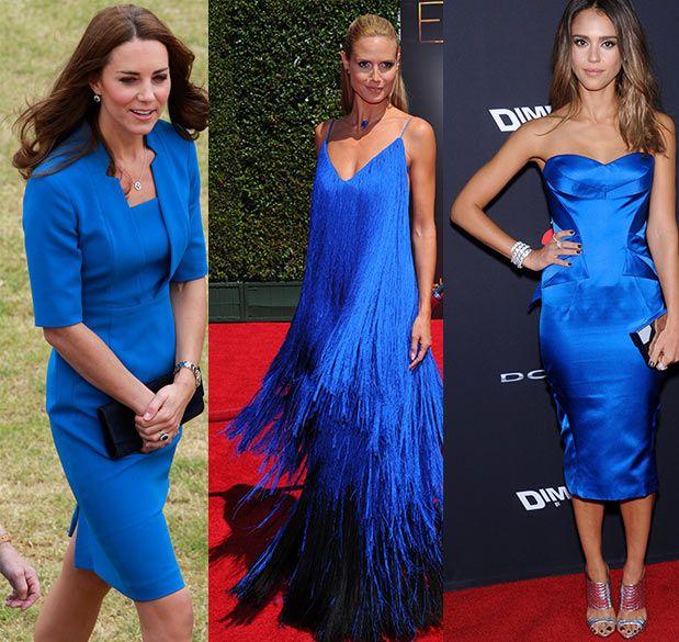 Complementos para vestido azul corto