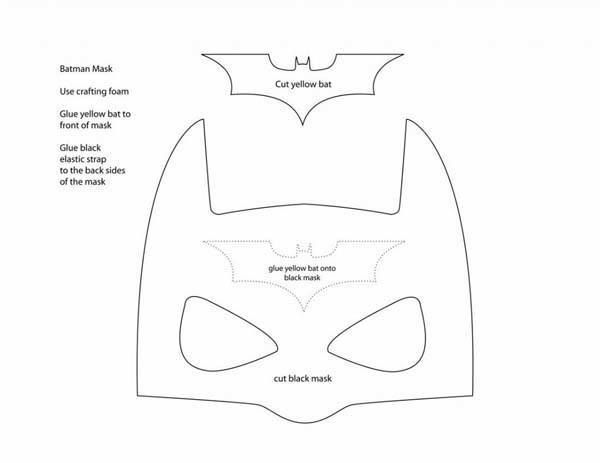 Cómo hacer una máscara de Batman de cumpleaños 2