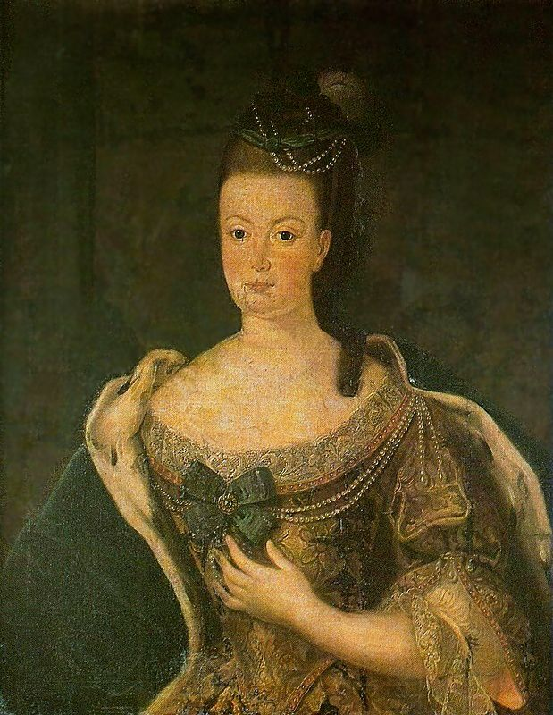 Mariana Vitória de Espanha, Rainha de Portugal por?  (Museu de Arte Sacra de São Paulo, São Paulo, Brasil)