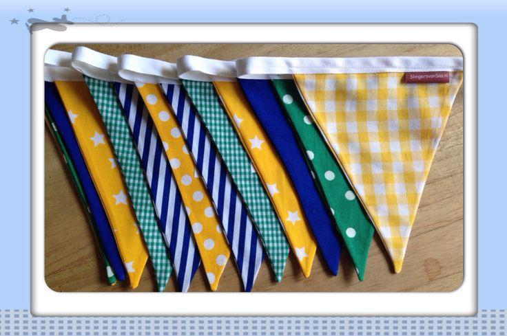 Stoffen slinger met Braziliaanse kleuren