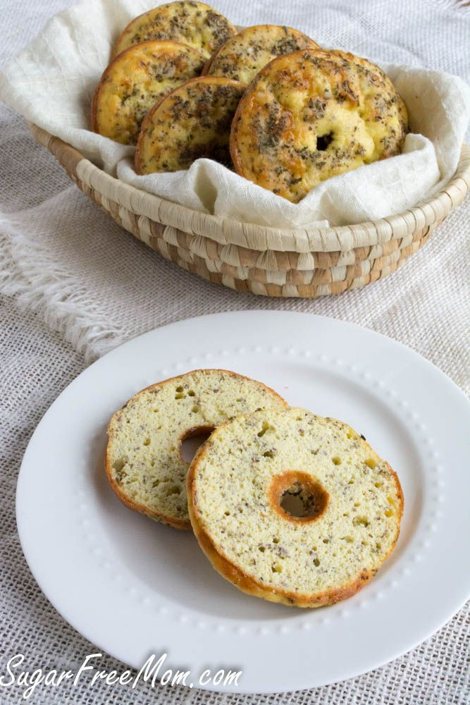 Sugar Free Low Carb Everything Bagel has only 134 calories and 1.6 net carbs!