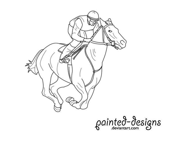 How to draw race horses google search horse racing for Thoroughbred coloring pages