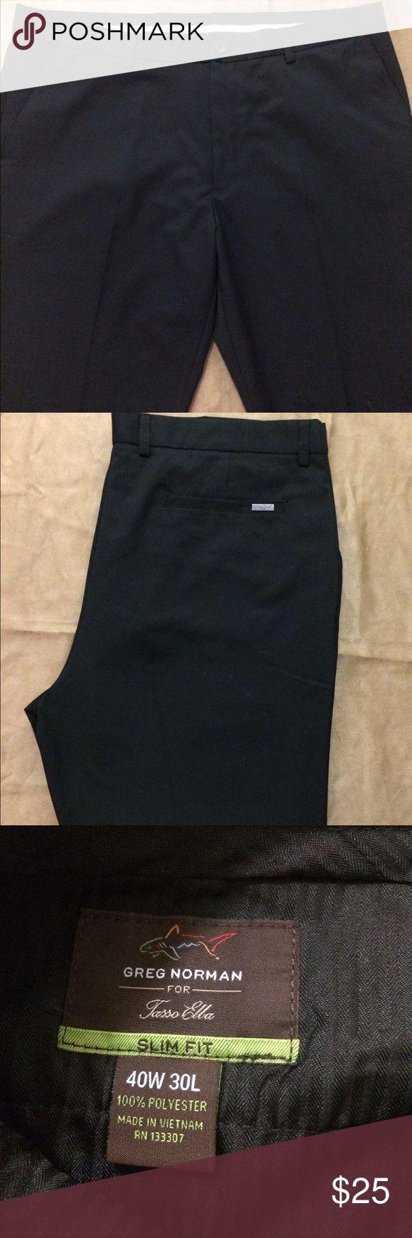 Greg Norman Slim Fit Golf Pants Greg Norman for Tasso Elba Men's Slim Fit Golf Pants  Size 40W 30L Greg Norman Pants Dress #GolfPants