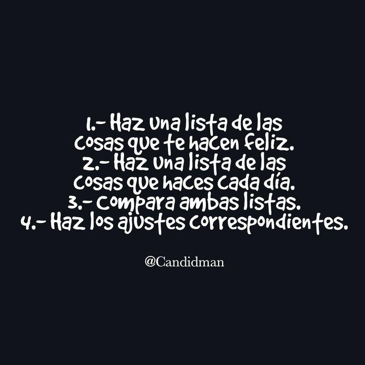 4 Pasos para #SerFeliz 1.- Haz una lista de las cosas que te hacen #Feliz. 2…