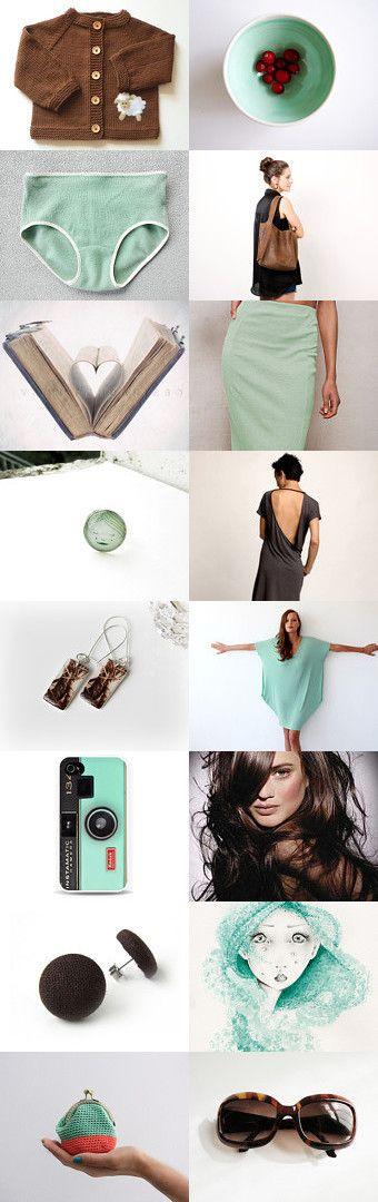 Choc mint by BeLuli Designer on Etsy--Pinned+with+TreasuryPin.com