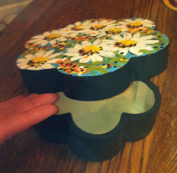 Hand painted wooden box on Etsy, $25.00