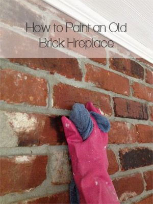 "How to Paint an Old Brick Fireplace -- will still look like brick. See the ""AFTER""! (includes full video tutorial)"