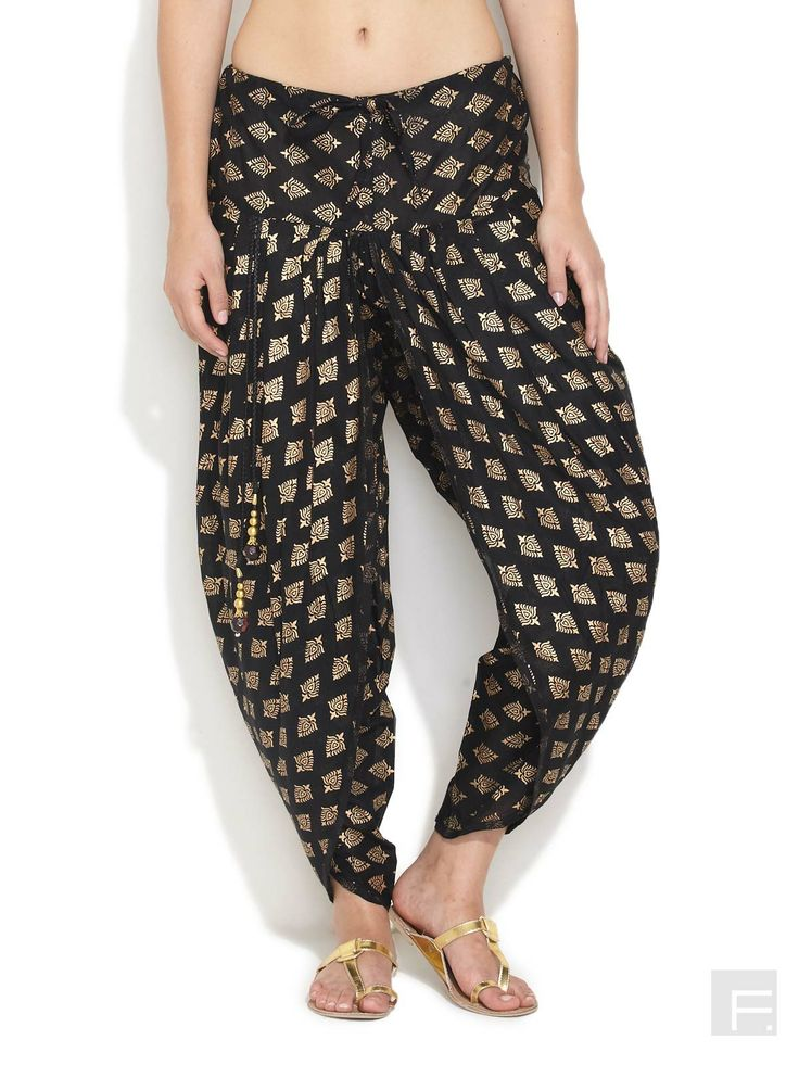 Kool Khari Dhoti Pants -Black