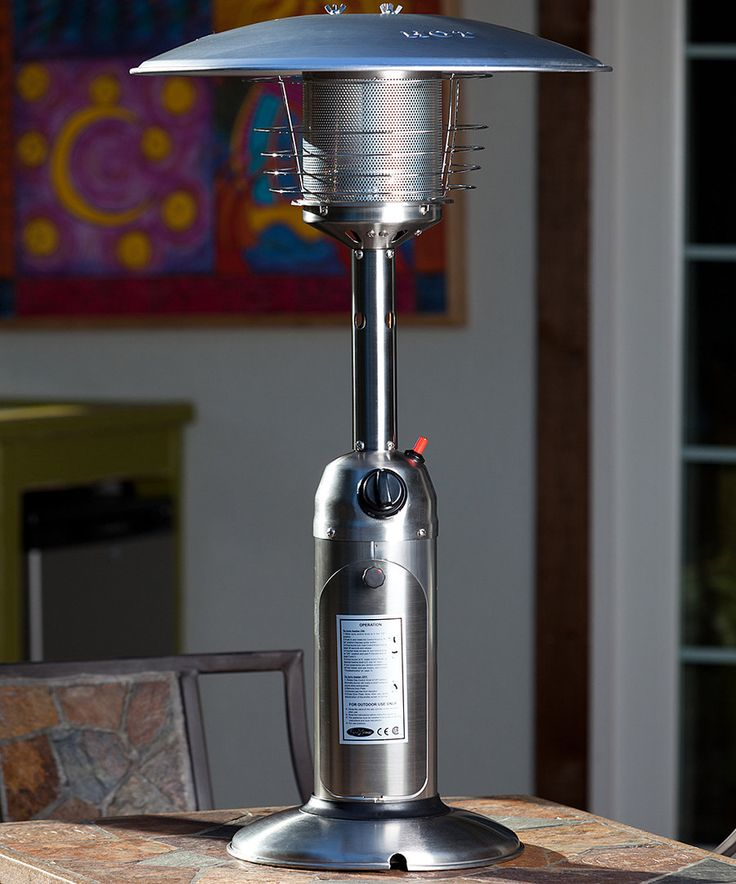 look at this fire sense stainless steel table top patio heater on zulily today
