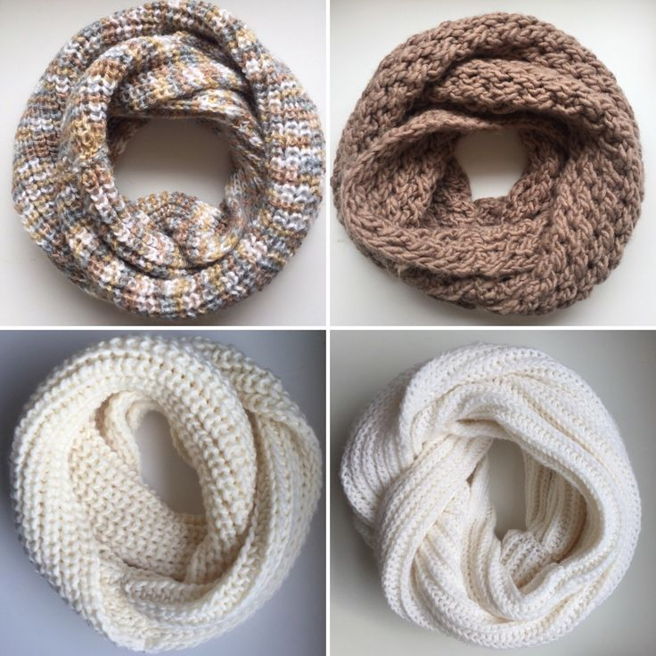 Neutral scarves! #infinityscarves #knitting #scarves #knit