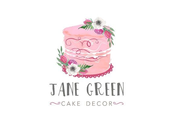 This watercolor floral bakery logo design is just something very speacial for your new personal business. All premade logos can be customized to