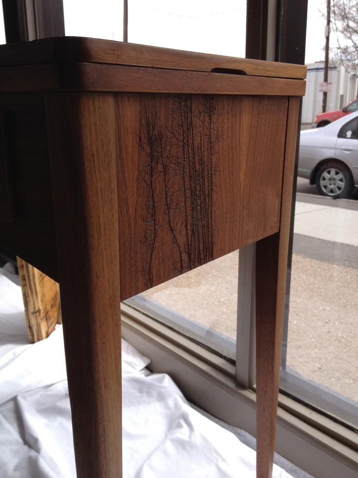 """""""vintage imprint Table"""" - laser side"""