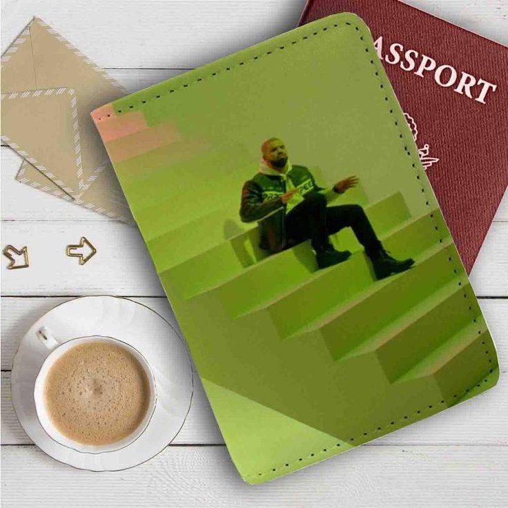 Drake Hotline Bling Leather Passport Wallet Case Cover
