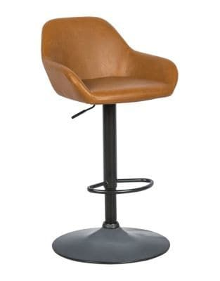 Distinctly Home James Faux Leather Hydraulic Bar Stool Brunel In