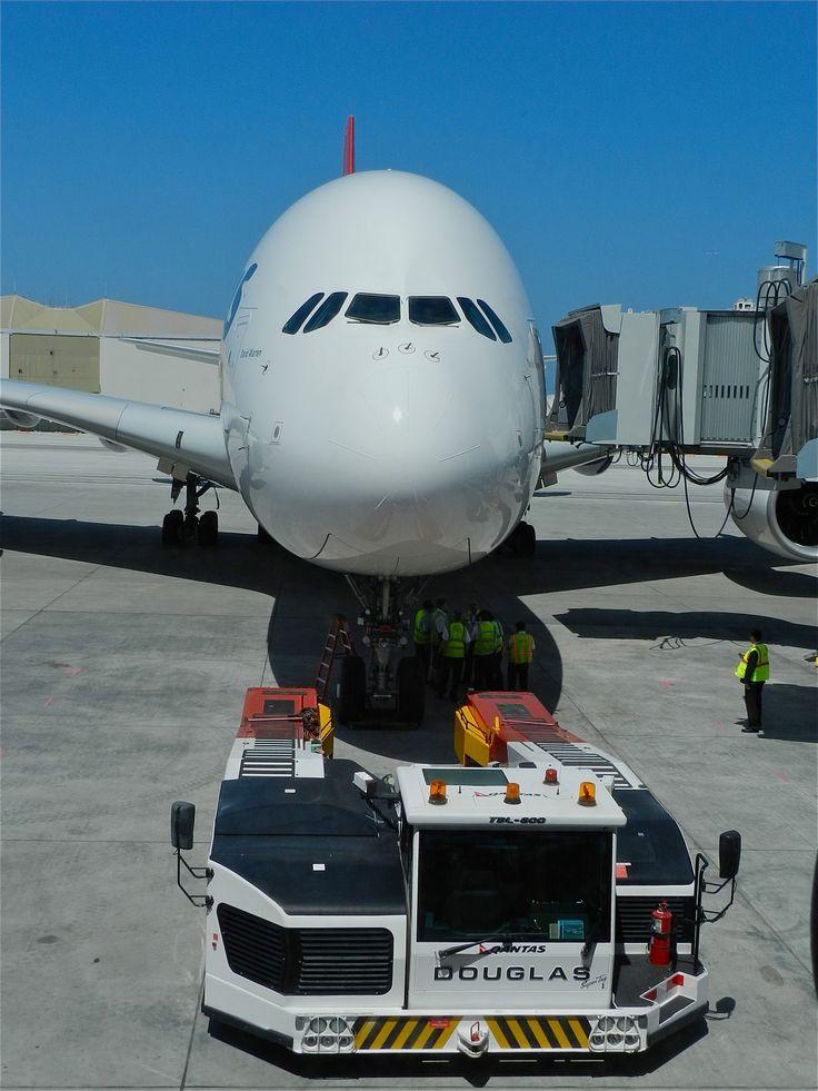 Qantas A380 at LAX