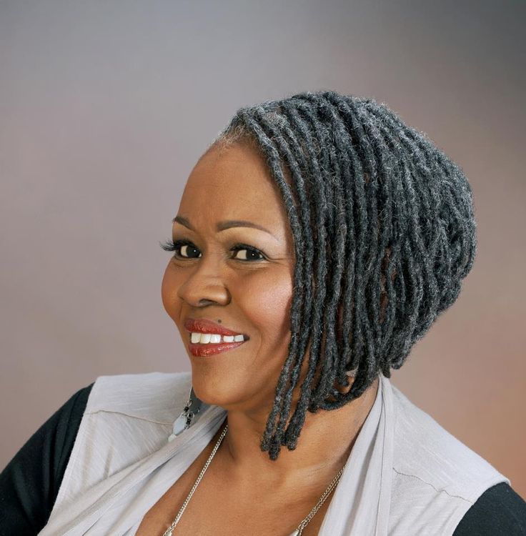 natural hair styles with gray hair Loc Bob Black Women Natural ...
