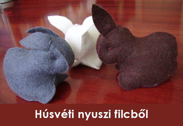 Az alábbi cikkből megtudhatod,hogyan készíthetsz bájos nyuszikat filcből,alig pár perc alatt.