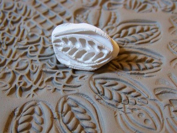 Bisque gemusterte Briefmarken Briefmarken-Clay für von chARiTyelise
