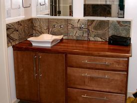Photo Gallery Of African Mahogany Wood Countertops, Butcher Block  Countertops, Wood Bar Tops, Wood Table Tops, And Custom Wood Tables Are All  Made By DeVos ...