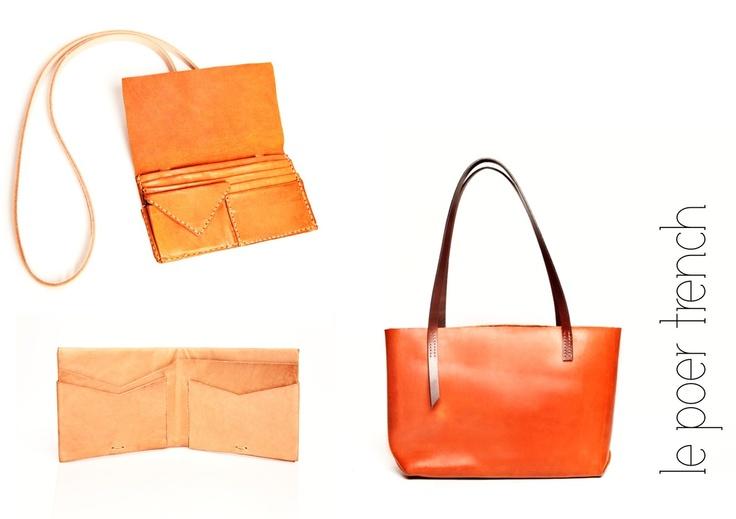 www.lepoertrenchdesign.bigcartel.com  Handmade kangaroo and cow hide products.