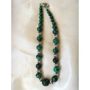 Chunky Malachite necklace, 44cm