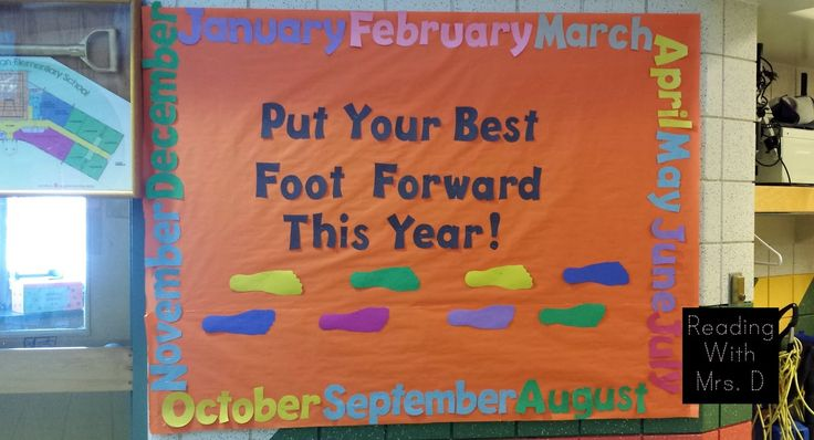 Put your best foot forward new year bulletin board ...