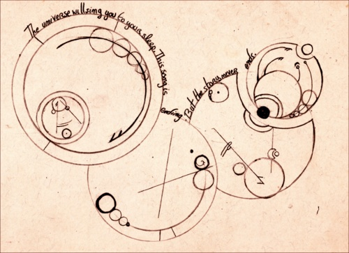 Gallifreyan: the universe will sing you to sleep. this song is ending, but the story never ends.