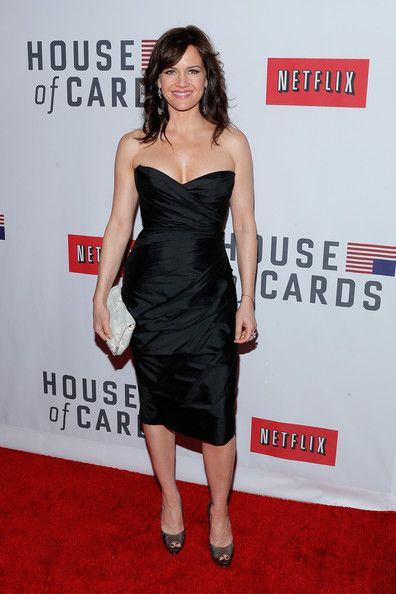"Carla Gugino Carla Gugino attends the Netflix's ""House Of Cards"" New York Premiere at Alice Tully Hall on January 30, 2013 in New York City."