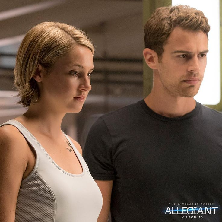 """Beyond the wall, Four and Tris are ready to take action. #Allegiant"""