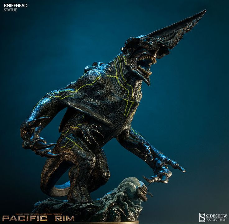 "Sideshow Collectibles 17"" Pacific Rim Kaiju Knifehead Statue"
