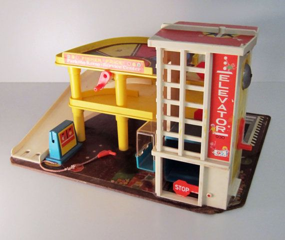 Fisher price garage toy vintage 1970 toy