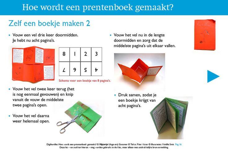 Hoe maak je zelf een boekje van A4 of A3? Instructie in digibordles van Rianne Visser