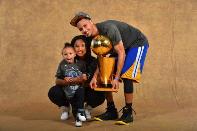 Move over, Stephen Curry, it's Riley Curry's turn to pose with the NBA championship trophy. The real MVP and her dad shared another priceless moment after beating the Cleveland Cavaliers in the NBA Finals. (Video)