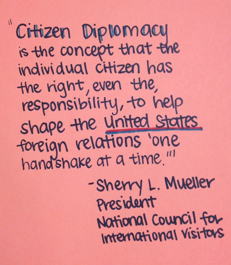 What is citizen diplomacy?