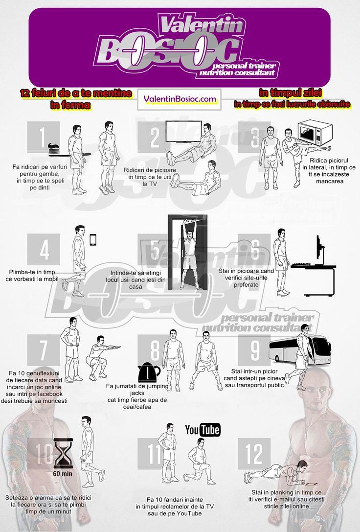 12 mișcări să te menții în formă