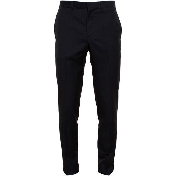 GIVENCHY Slim Wool Trousers ($550) ❤ liked on Polyvore featuring mens, men's clothing, men's pants, men's dress pants, pants, boys und men