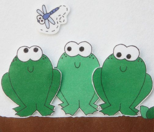 5 Speckled Frogs ePattern for Print and Play Felt by copycrafts, $3.00