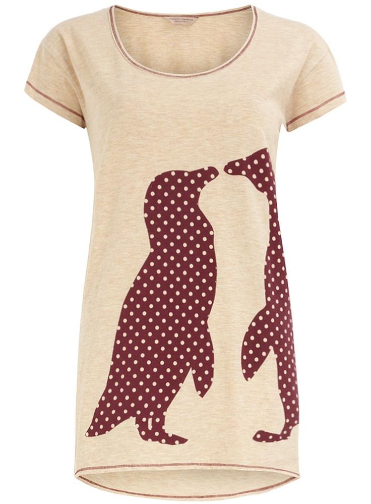 penguin shirt. So cute:)
