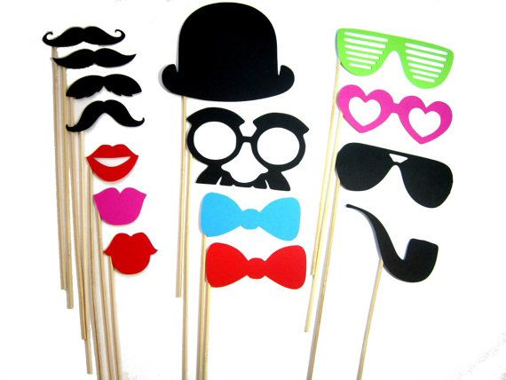 mustache props #party: Props 15, Photos Booths Props, Photobooth Props, Photo Booths, Wedding Photos Booths, Pieces Sets, Parties Ideas, Photos Props, 15 Pieces