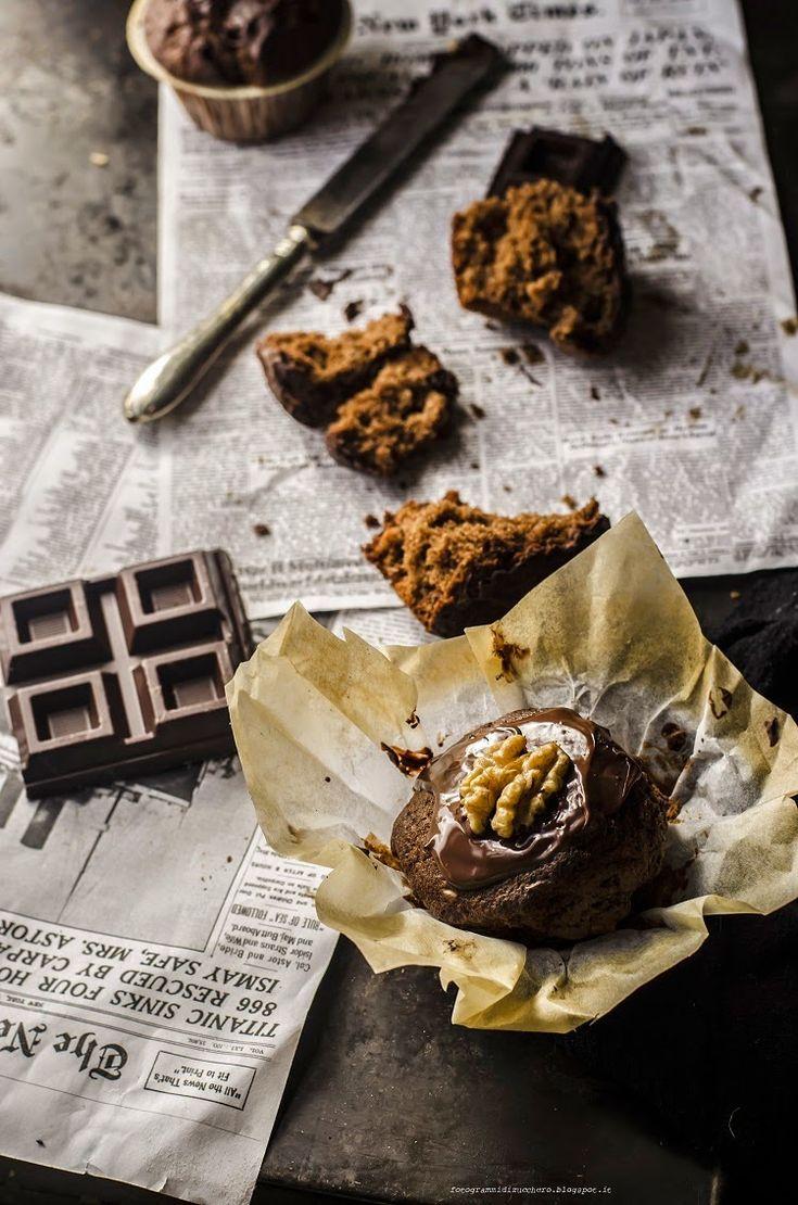 Muffin al cioccolato e noci