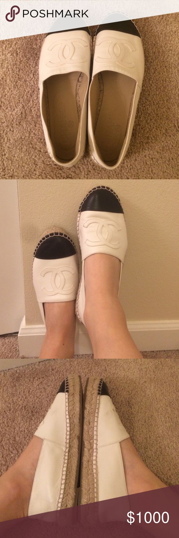 Chanel espadrilles New babies! Might be for sale once I sell the pumps on my page! CHANEL Shoes Espadrilles